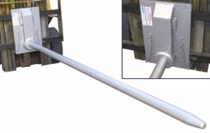 Picture of Carriage Mounted Roll Prong 70mm Diameter 2800mm Long (RPC-QR2)