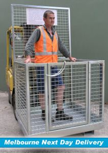 Picture of Forklift Safety Cage Flat Packed with Mesh Sides