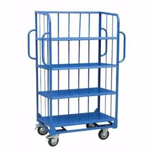 Picture of 3-Sided Sloping Shelf Truck Trolley Melbourne